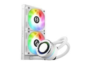 LIAN LI GALAHAD AIO 240 RGB WHITE, Dual 120mm Addressable RGB Fans AIO CPU Liquid Cooler
