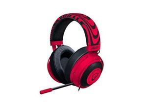 Razer PewDiePie Kraken Pro V2 - Analog Gaming Headset for PC, Xbox One and Playstation 4 - Oval Ear Cushions - Neon Red