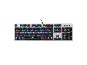 HP GK100S 104keys NKRO RGB LED Backlight Blue Switch Mechanical Gaming Keyboard