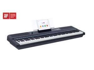 The ONE Smart Keyboard Pro, 88-Key Digital Piano Keyboard, Portable Digital Piano, Weighted Action Keys, Black