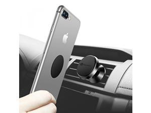Magnetic Phone Holder for Car, Humixx 360° Adjustable Air Vent Cellphone Car Mount Holder for iPhone 8 8 Plus 7 7 Plus ,Samsung S7 S8, HTC, LG, ZTE [Easy Clamping Series] (Black)