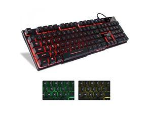 ALV Mafiti RK100 3 Color LED Backlit USB Wired Multimedia Keyboard for Gaming,Office