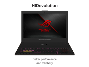 "HIDevolution ASUS ROG Zephyrus GX501GI 15.6"" FHD 144Hz Gaming Laptop 