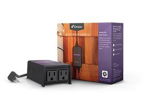 iDevices Wi-Fi Enabled Outdoor Smart Plug with Dual Outlets & Energy Monitoring - Apple HomeKit, Amazon Alexa, & Google Assistant