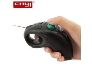 Wireless Mouse 2.4G PPT Handheld Trackball Air Mouse Thumb-Controlled Mice Mause With Laser