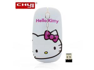 69be0049e CHYI Cute Cartoon Wireless Mouse Ultra Thin Hello Kitty Computer Mause  1600DPI Optical ...