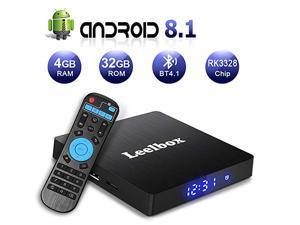 Android TV Box 8.1, 4GB RAM+32GB ROM Leelbox Q4 MAX Quad-Core 2.4GHz Support BT 4.1/WiFi/3D/4K/H.265
