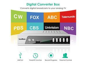 Digital Converter Box, Leelbox S3 ATSC Converter Box for Analog TV, HD 1080P HDTV Set Top Box for Recording PVR, Pause Live TV, USB Multimedia Playback [2019 Update Version]