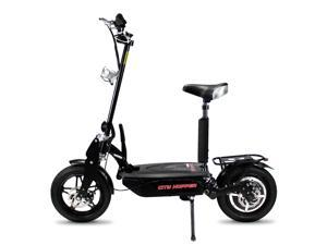 City Hopper CH16D-BK Super Turbo Brushless 1000W Foldable Electric Scooter, Black