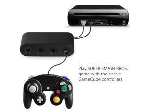 HOT 4 Ports For GameCube GC Controllers USB Adapter Converter for Nintendo Wii U PC NGC for PC Game Accessory