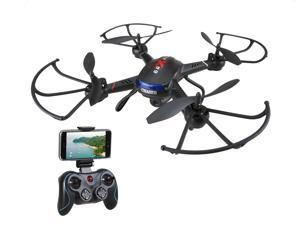 Holy Stone - F181W Wifi FPV Drone with 720P Wide-Angle Camera and Bonus Battery, Black