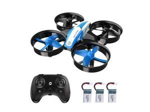 Holy Stone - HS210 Mini Drone Quadcopter for Kids and Adults with 3 Batteries, Blue