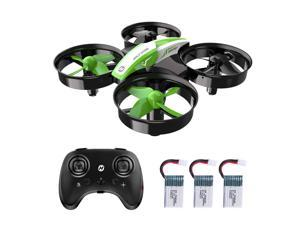 Holy Stone - HS210 Mini Drone Quadcopter for  Kids and Adults with 3 Batteries, Green