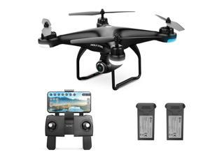 Holy Stone - HS120D Wifi FPV Drone with 1080P Camera and GPS, Tap Fly Function, Black (Bonus Battery Version)
