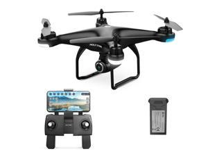 Holy Stone - HS120D Wifi FPV Drone with 1080P Camera and GPS, Tap Fly Function, Black