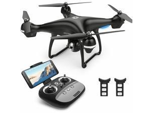 Holy Stone HS100 GPS FPV Drone with 1080P Camera and GPS Return to Home, Bonus Battery, Black