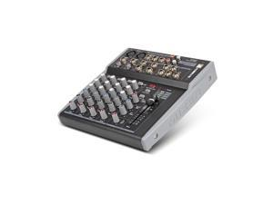 Xtuga MX8 8Channels 3-Band EQ Audio Music Mixer Mixing Console with USB XLR LINE Input 48V Phantom Power for Recording DJ Stage Karaoke