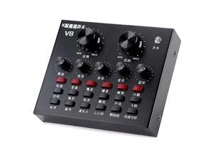 V8 Full Set Of Voice Recorder Computer Anchor Microphone Live Broadcast Equipment Sound Card Set