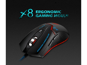 c7a19d0cde0 DOBACNER gaming mice IMICE X8 Wired Glowing E-sports Game Mouse Jedi ...