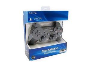 Dobacner Bluetooth Wireless Dual Shock 3 PS3 Wireless Controler Six Axis Game Controller for Sony PS3 Black