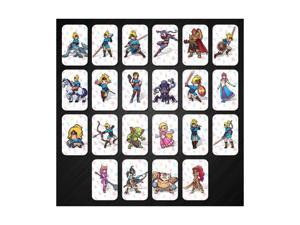 Dobacner 22pcs The Legend of Zelda Breath of The Wild Amiibo NFC Cards Contain 4 Champions 20 Hearts Wolf Link Majora's Mask for NS Switch Wii U