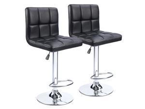 59a714d2e2d Homall Bar Stools - Black Bonded PU Leather with Larger Seat