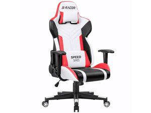 Homall Gaming Chair Racing Style High-Back PU Leather Office Chair Computer Desk Chair Executive and Ergonomic Swivel Chair ...
