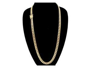 6e73e6726 Cuban Link Necklace Gold Plated Miami Cuban Chain Stainless Steel ...
