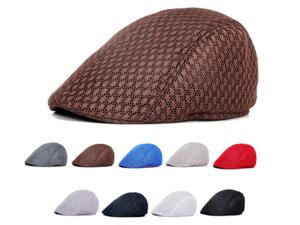online store c0796 1cbff ... uk cotton cap men berets solid color hollow mesh cap forward 6f893 793a3