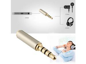 Gold 3.5mm Male  to 2.5mm Female  Audio Stereo Headphone Jack Adapter Converter