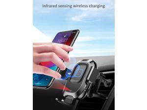 BASEUS Portable IR Infrared Induction Smart Wireless Charger, Car Navigation Mount Phone Holder Bracket Stand