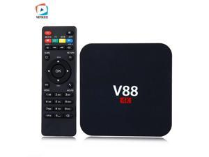 V88 Quad-Core 1GB 8GB Android 6.0 HD Smart TV Box - Black (US Plug)/Kodi 16.0 Loaded 4K 1080P H.265 VP9 Wi-Fi Smart Media Player Set Top TV Box