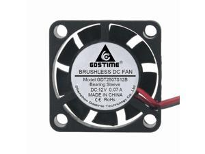 5pcs HQ Mini DC 12V 2.5cm 25x25x10mm 2510s Brushless Cooling Fan new 25mm