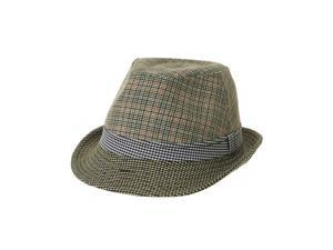 3892b1af78b WITHMOONS Fedora Hat Trendy Houndstooth Plaid Check ...