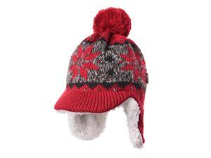 0c16168da20 WITHMOONS Knit Fleece Fairs Isle Nordic Ear Flap Pom Beanie Hat ...