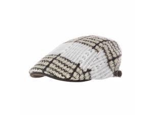edbd8990ef2 WITHMOONS Knitted Stripe Pattern Newsboy Hat ...