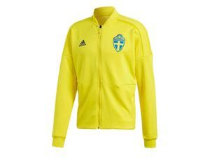 2018-2019 Sweden Adidas ZNE Knitted Anthem Jacket (Yellow)