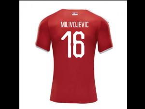 4c465f67d6 2018-2019 Serbia Home Puma Football Shirt (Milivojevic 16)