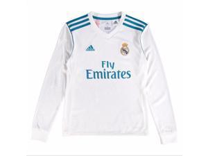 2017-2018 Real Madrid Adidas Home Long Sleeve Shirt ... 03d04c286