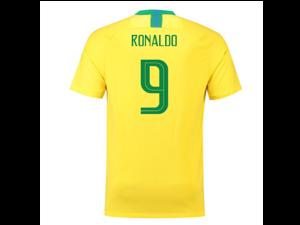 d7c62abef4b7 2018-2019 Brazil Home Nike Football Shirt ...