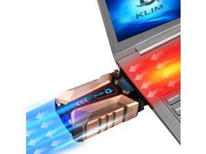 KLIM Cool + Laptop Cooler in Metal - The Most Powerful - Air Vacuum USB for Immediate Cooling - Cooling Pad to Solve Overheating