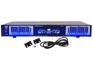"Rockville REQ20 19"" Rack Mount Pro Dual 10 Band Graphic Equalizer EQ w/VU Meters"