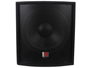 "Rockville SBG1158 15"" 800 Watt Passive Pro DJ Subwoofer, MDF Cabinet/Pole Mount"