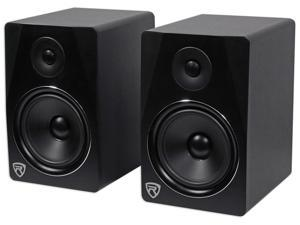 "Rockville APM8B 8"" 2-Way 500W Active/Powered USB Studio Monitor Speakers Pair"