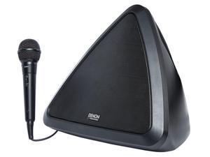 Denon Bluetooth Battery Powered Portable Karaoke Machine System w/Microphone