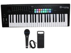 Novation LAUNCHKEY-49-MK2 49-Key USB MIDI Keyboard Controller+Mic+Case+Cable