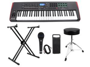 Novation IMPULSE 61-Key Ableton Live USB Keyboard Controller+Stand+Throne+Mic