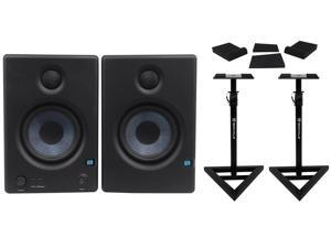 "2 Presonus Eris E4.5 4.5"" Powered Studio Monitors+(2) Stands+Foam Isolation Pads"