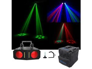 Chauvet DJ Duo Moon LED Moonflower/Strobe Sound-Activated Effect Light+Clamp+Bag