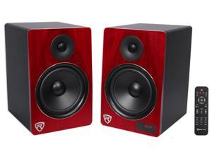 Rockville Bluetooth Home Theater Entertainment System Bookshelf Speakers-Cherry
